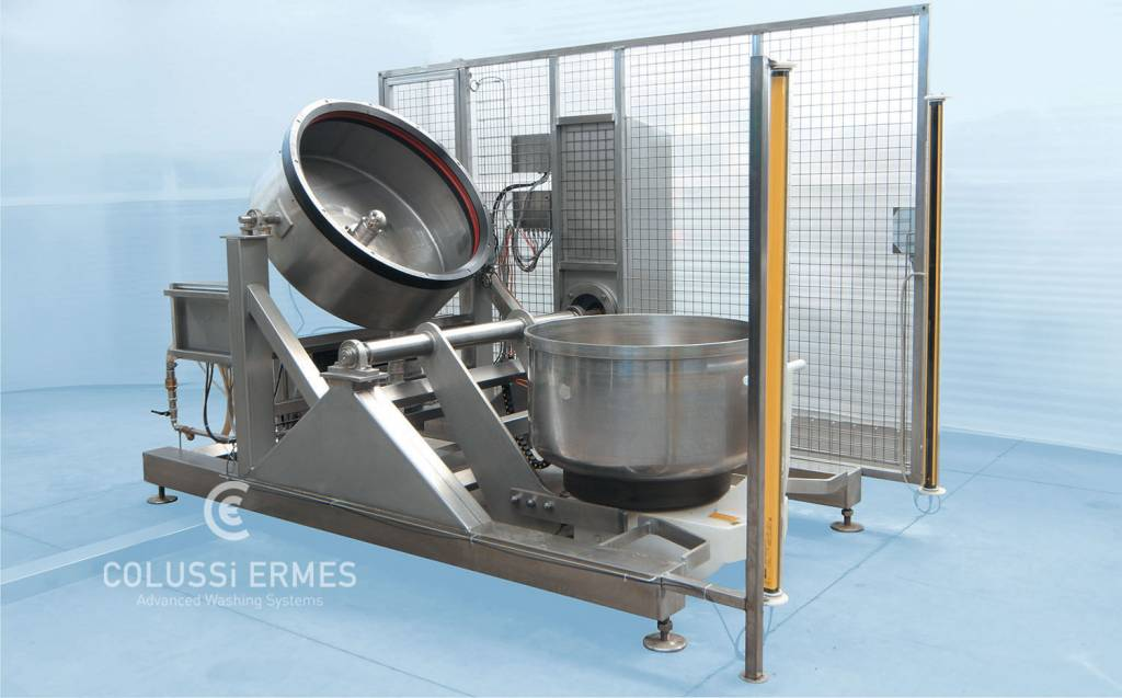 Industrial mixing bowl washers